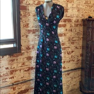 "Banned ""Doodle Kitty"" Maxi Dress"